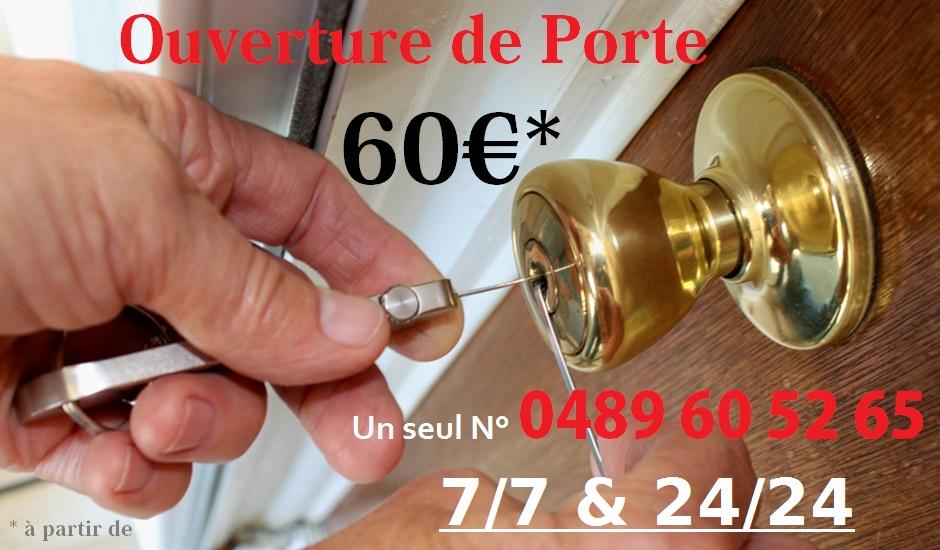 serrurier-bruxelles.net | Ouverture de porte à 60€ | 0489 60 52 65 | Serrurier ouvert le dimanche